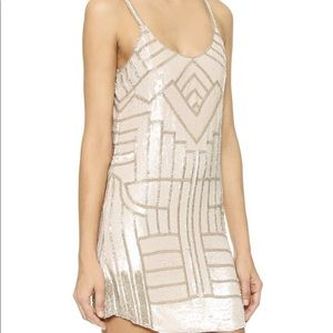 Parker Hayden beaded mini dress. Size S